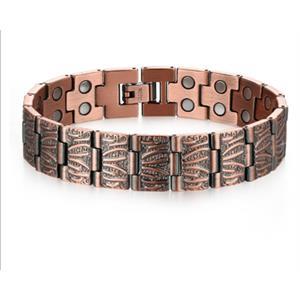 Ruffled Kobber Armbånd med Magneter