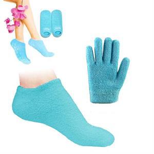 Kombopack med vårdande gelhandskar och strumpor.