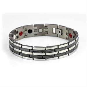 Titanium Magnet Armbånd. 3000 gauss pr. magnet.
