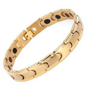 Guld Titanium Magnet Armbånd