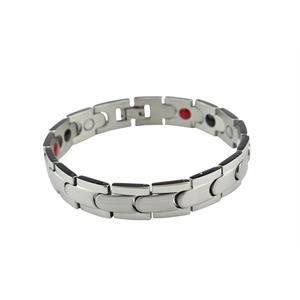 Sølv Titanium Magnet armbånd.