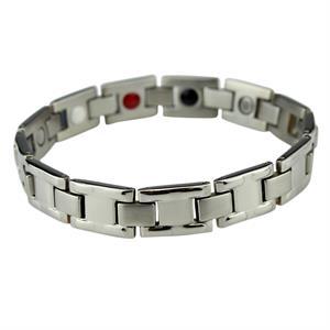 """""""Sølv"""" Titanium Magnet Armbånd."""