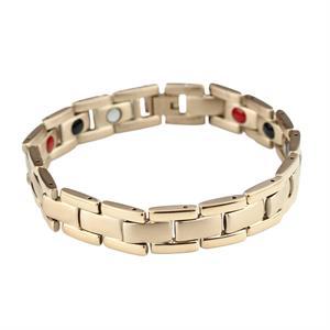 Rose Gold Titanium Magnet Armbånd.