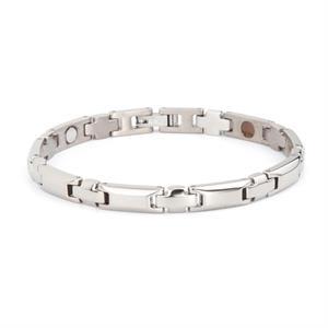 Titanium Sølv Magnet Armbånd. 3000 gauss pr. magnet.