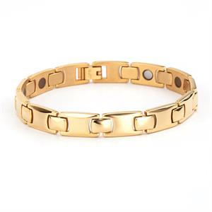 Titanium Guld Magnet Armbånd. 3000 gauss pr. magnet.