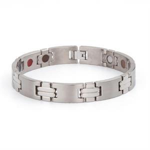 Harmony Titanium Magnet Armbånd i Sølv.