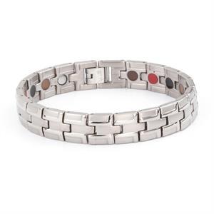 Silver Titanium Magnet Armbånd.