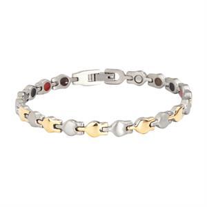 Titanium Guld/Sølv Magnet Armbånd. 3000 gauss pr. magnet.