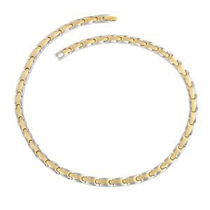 Guld Magnet Halskæde i Titanium. 3000 gauss pr. magnet.