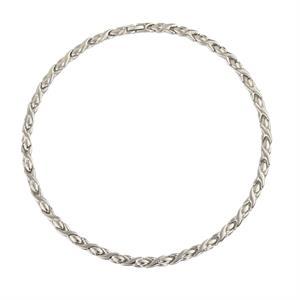 Magnet Silver Halskæde i Titanium. 3000 gauss pr. magnet