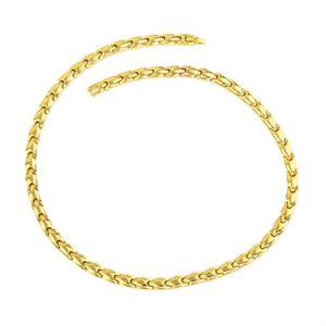 Magnet Gold Halskæde i Titanium. 3000 gauss pr. magnet