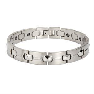 Titanium Magnet Armbånd Silver. 3000 gauss pr. magnet.