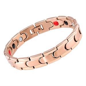 Rose Gold Puzzle Titanium Magnet Armbånd.