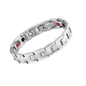 Sølv Titanium Magnetarmbånd.