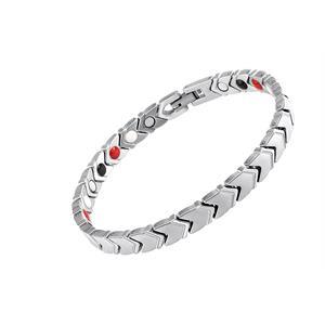 Pileflet Sølv Titanium Magnetarmbånd.