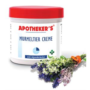 Murmeldyrs Creme med Alpine Urter - 250 ml.