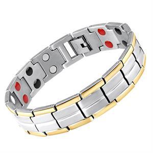 Silver/Guld Rand Titan Magnetarmband.