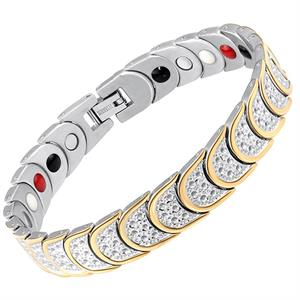 Ruffle Guldstribe Titanium Magnetarmbånd.