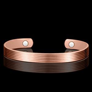 Stripe Kobber Magnetarmbånd - 1 stk