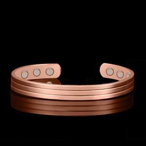 Triple Stripe koppar Magnetarmband i Koppar