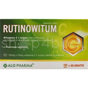 Rutinowitum C - Vitamin C og Rutin - 150 tabletter.