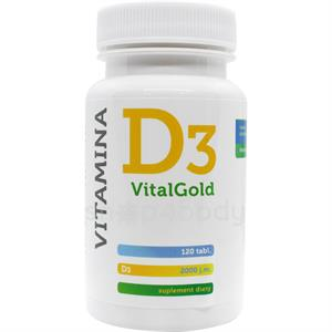 D3 Vitamin Vital Gold, 50µg - 120 tabletter