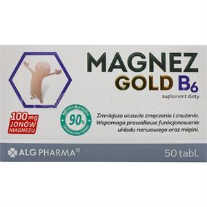 Magnez Gold, Magnesium med B6 - 50 tabletter.
