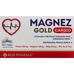 Magnez Gold Cardio med Kalium, Magnesiumcitrat och Havtorn - 50 tabletter
