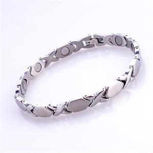 Silver X Titanium Magnetarmband