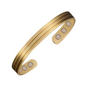 Golden Stripe Kobber Magnetarmbånd