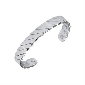 Snoet Silver Kobberarmbånd med Magneter.