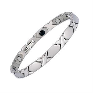 Silver X Titanium Magnetarmbånd