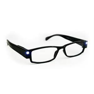 Læsebrille med 2 LED lys og Klart Etui - 1 stk.