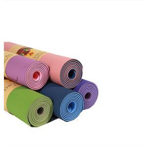 Slim Yogamatta/träningsmatta med bärrem - 1 st