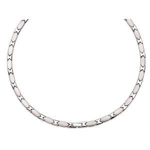 Silver X Magnethalsband i Rostfritt Stål