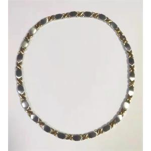 Silver X Gold Magnethalsband i Rostfritt Stål